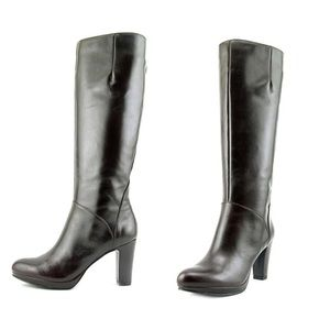 Nine West Possible Pointed Toe Leather Boots 8.5